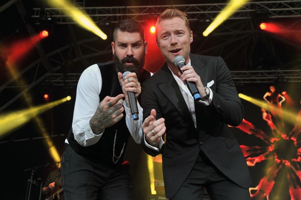 Shane Lynch and Ronan Keating, Boyzone
