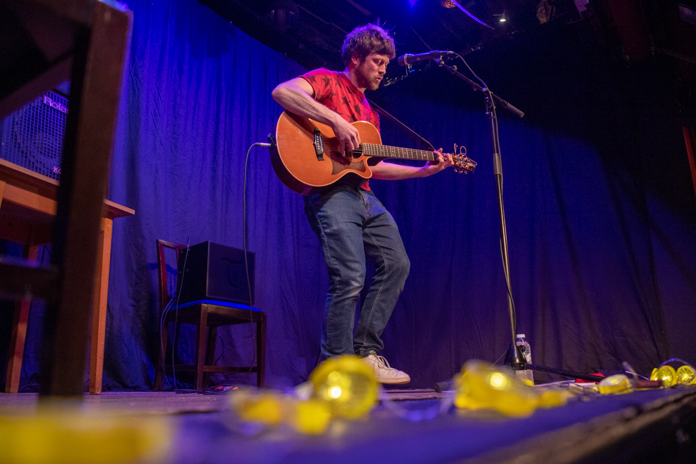 Steve Pilgrim on stage at The Playhouse Theatre